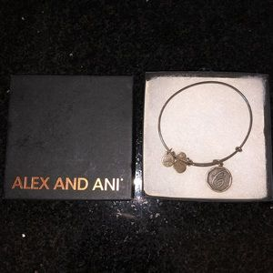 "Alex and Ani Silver Letter ""C"" Bracelet"